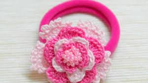 crochet hair bands how to make a lovely crocheted pink hair band diy crafts