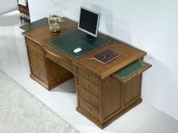 bureau informatique bois massif bureau meuble bois bureau ministre 9 tiroirs en chane massif de