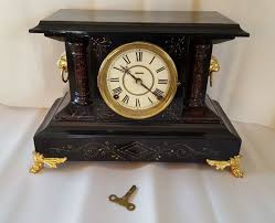 Antique Curio Cabinet With Clock