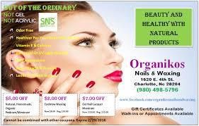 eyebrow waxing and nail salons near me organikos nails and waxing nail salon charlotte north carolina