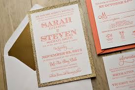 wedding invitations gold coast coral and gold wedding invitations reduxsquad