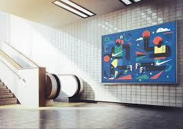 nike wall mural on behance