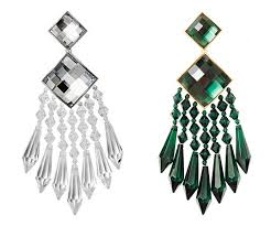 hm earrings balmain x h m collection jeweled fringework earrings make a