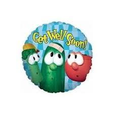 get well soon and balloons veggietales get well soon balloon bouquet jeckaroonie balloons