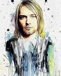 kurt cobain fucking legend on the cigarette powdered charcoal