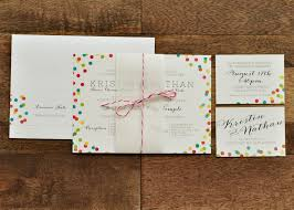 Wedding Registry Cards For Invitations Confetti Wedding Invitation Right U0026 West