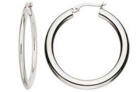 white gold hoops 14k white gold hoop earrings earrings prices online from vinejewelry