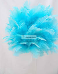 blue aqua feather balls balls wedding centerpieces
