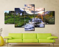 waterfall home decor scenery large canvas home decor4 piece