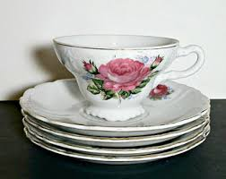 roses tea set tea set etsy