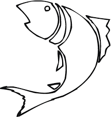 drawing clipart fish line pencil and in color drawing clipart