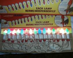 vintage amico christmas lights by noma string of 7 indoor