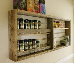 Wood Kitchen Shelves by Kitchen Shelves Made From Wooden Pallet Recycled Things