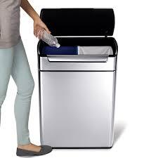 interior design elegant stainless steel simplehuman recycler for