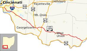 Batavia Ohio Map by Ohio State Route 125 Wikipedia