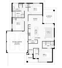 house plans 3 bedroom plans houses hillside home plans second