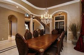 Traditional Dining Room With Crown Molding  Chandelier In Spring - Traditional dining room chandeliers