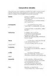conjunctive adverbs worksheets pdf mediafoxstudio com