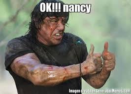 Nancy Meme - ok nancy meme de rambo ok imagenes memes generadormemes