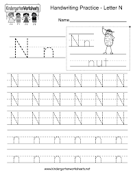 letter n worksheets for preschool kindergarten printable