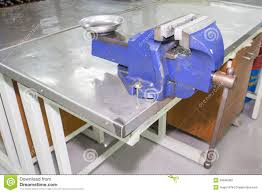 bench vise on table stock photo image 33948000