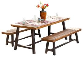 Picnic Table Dining Room Sets Outstanding Indoor Picnic Bench Ideas Best Inspiration Home