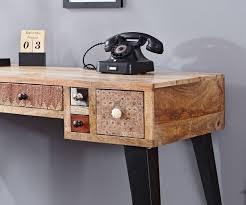 Schreibtisch 100 Cm Schreibtisch Himalaya 130 Cm Mango Natur 6 Schübe Möbel Tische