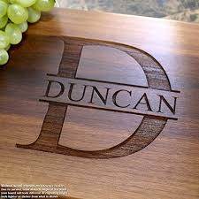 name personalized engraved cutting board wedding gift