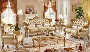 canapé luxe italien classique italien style de luxe canapé en cuir ensemble salon canapé