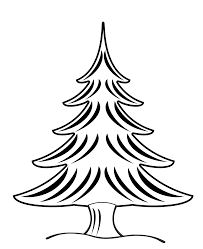 Black And White Christmas Decorations Clipart by Pine Tree Clipart Black And White Clipartxtras