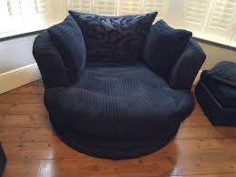 black cuddle chair swivel chair and footstool in crawley west