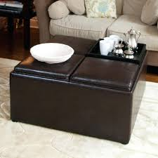 Leather Storage Ottoman With Tray Interior Storage Ottoman With Tray Faedaworks Com