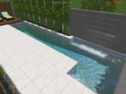 above ground lap pool decofurnish small above ground lap pool in the backyard and waterfall fountain