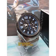 jam tangan pria alexandre christie 6345 silver biru original murah