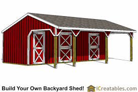 backyard horse barns 2 stall horse barn plans with lean to and tack room