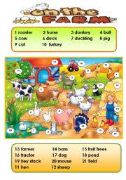 english teaching worksheets the farm