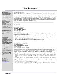 Project Manager Resume Samples Business Analyst Project Manager Resume Sample Resume For Your