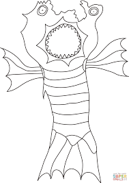 monster coloring free printable coloring pages