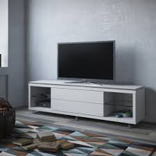 lincoln white gloss tv stand 1 9 w silicon casters by manhattan