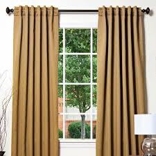 wood linen look back tab thermal insulated blackout curtains pair