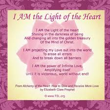 I Am Light I Am The Light Of The Heart Mantra By Saint Germain Things And