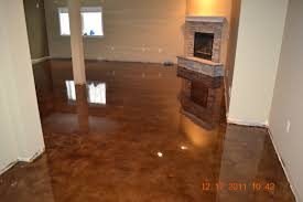 Interior Cool Glossy Concrete Floor Finishes Design With