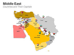 middle east map and capitals middle eastern countries map with their capital