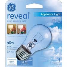 Refrigerator Light Bulbs Ge Reveal 40 Watt Incandescent A15 Appliance Bulb 1 Pack U003d 6