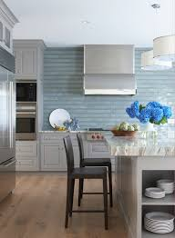 blue kitchen backsplash blue kitchen backsplash kitchen transitional with accent tile beachy