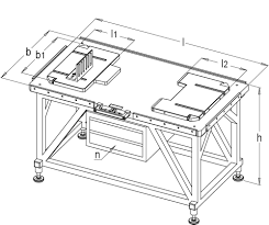 Cabinet Assembly Air Cushioned Assembly Table With Stand And Tool Cabinet Assembly