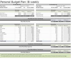 Free Excel Personal Budget Template Free Biweekly Budget Excel Template A Home Of My Own