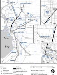 Buffalo Map Map Of Proposed Light Rail Expansions In Buffalo Ny By The