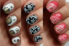 3 easy nail art designs for short nails stamping youtube