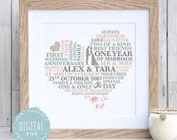 1 year wedding anniversary gift 1st anniversary gift etsy